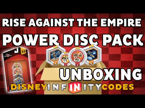 New in Box Disney Infinity 3.0 Star Wars Rise against the empire Power Disc Pack de 4