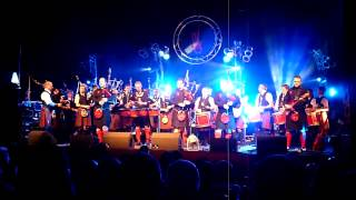 Highland Cathedral by The Red Hot Chilli Pipers feat Arbroath RBLS Pipe Band 4 April 2009