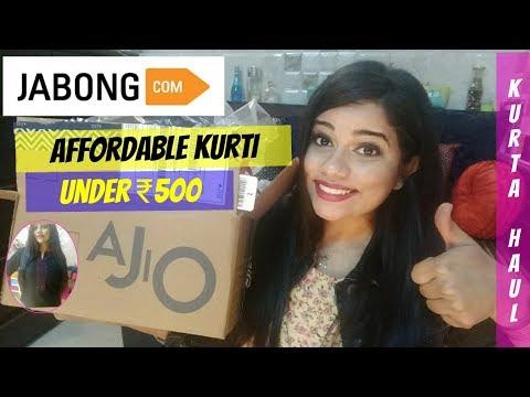 AJIO & JABONG ETHNIC KURTA HAUL UNDER ₹500   Sana K