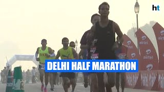 Sports Minister Kiren Rijiju flags off 15th half marathon in Delhi