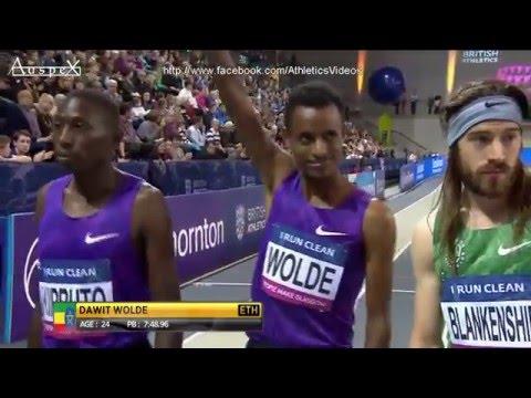 3000m Glasgow indoor 2016 (Mo Farah)