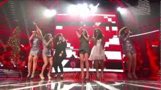 """Fifth harmony & demi lovato perform """" give your heart a break"""" the x factor usa 2012.season 2 finals."""