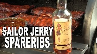 Sailor Jerry Spareribs recipe by the BBQ Pit Boys
