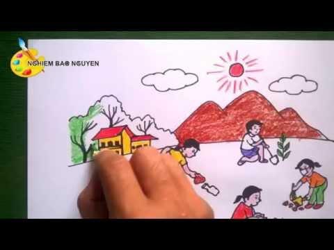 Vẽ tranh bảo vệ môi trường/How to Draw environmental Protection