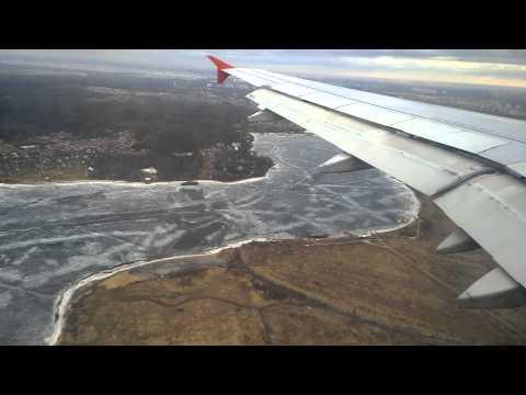 Aeroflot SU 262 from London, landing to Moscow Sheremetyevo Airport