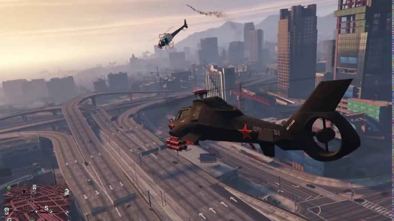 GTA V test flug mit der Akula