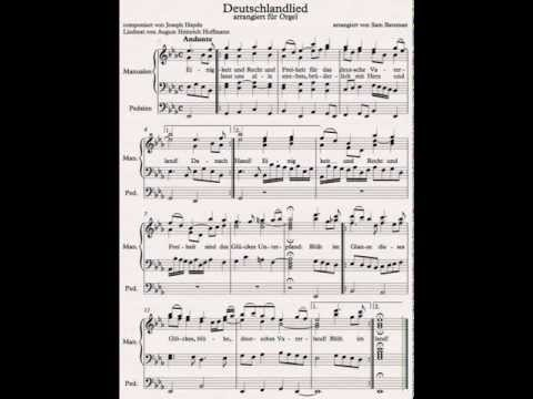 Deutschlandlied - organ arrangement by Sam Bateman - YouTube