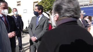 Juanma Moreno visita La Roda de Andalucía (Sevilla)