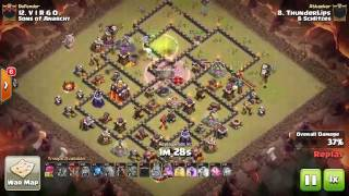 Clash of Clans: CWL Week 10 || 6Schlitzes vs Sons of Anarchy || Th-10/11 War Recap