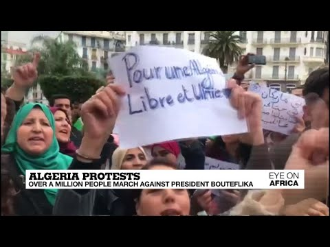 Algeria Protests: Over a million people march against President Bouteflika