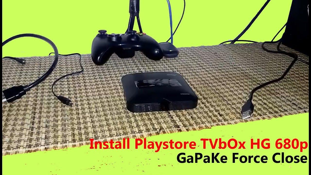 Install Playstore di STB Fiberhome HG680p tanpa Force Close