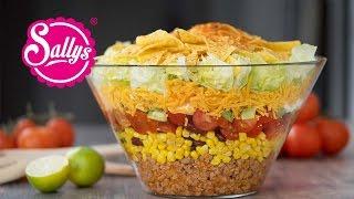 Mexikanischer Partysalat - Taccosalat - Nachosalat - Partyrezept