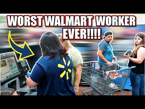 WORST WALMART WORKER EVER, CAUGHT ON CAMERA!