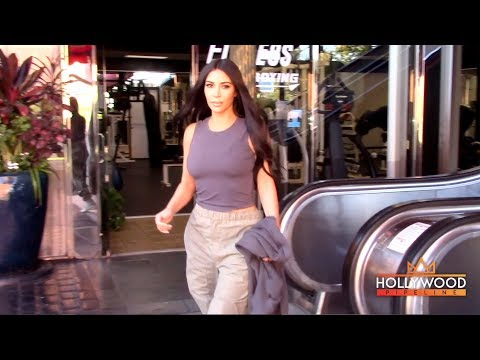 Kim Kardashian Keeps It Comfy In Calabasas, CA