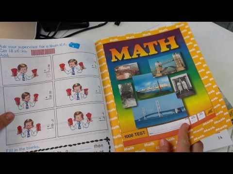 Homeschool Curriculum || ACE 1st Grade Math Flip through