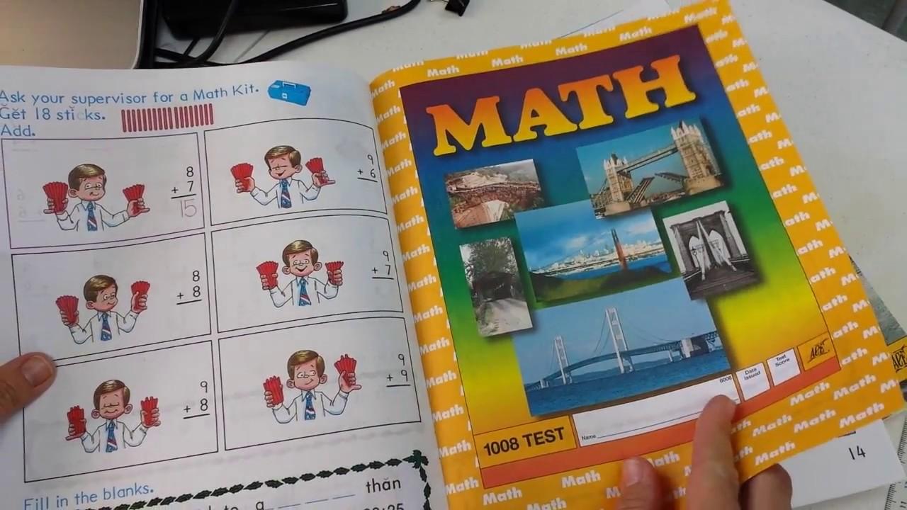 Homeschool Curriculum || ACE 1st Grade Math Flip through