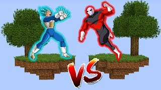 ILHA DO VEGETA SUPER SAIYAJIN BLUE VS ILHA DO JIREN no MINECRAFT !! (DRAGON BALL SUPER)