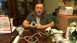 Basic Ctronics Security Camera System Installation, wireless and wired.