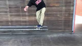 Zander Gabriel textbook Hardflip BS Tailslide Shove-it at the port ...