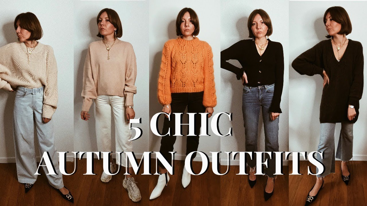 5 Easy Chic Autumn Outfit Ideas: Sweater + Jeans 2