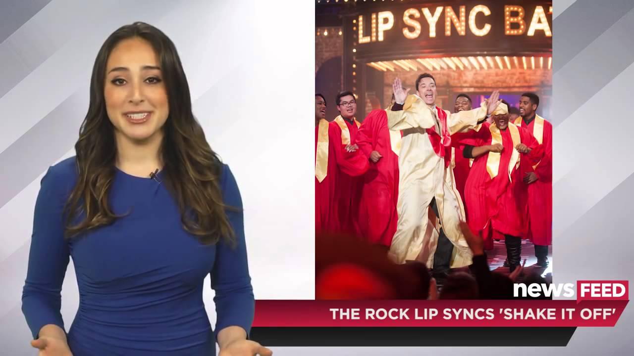 dwayne johnson lip syncs taylor swift shake it off on lip sync