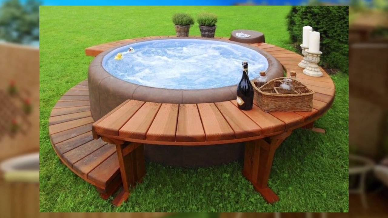 Piccole piscine di lusso per piccoli giardini youtube for Piscine da giardino