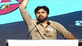 Pawan Kalyan Singing Telangana Gaddar Songs - PSPK Powerful Speech - Jana Sena Party Launch