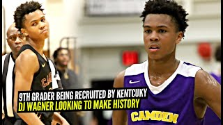 This 9th Grader Is Being Recruited By KENTUCKY!! DJ Wagner The BEST 9th Grade PG In The Nation!