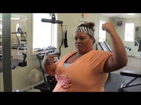 Plus size girl's gym workout!!!!