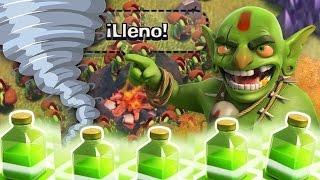 Clash of clans/ Ataques Random #1 + 230 Duendes + 4 hechizos de salto WHAT?¿?¿?