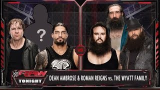 WWE RAW 9/21/15 - Roman Reigns & Dean Ambrose vs Wyatt Family - WWE RAW 2K15 Match