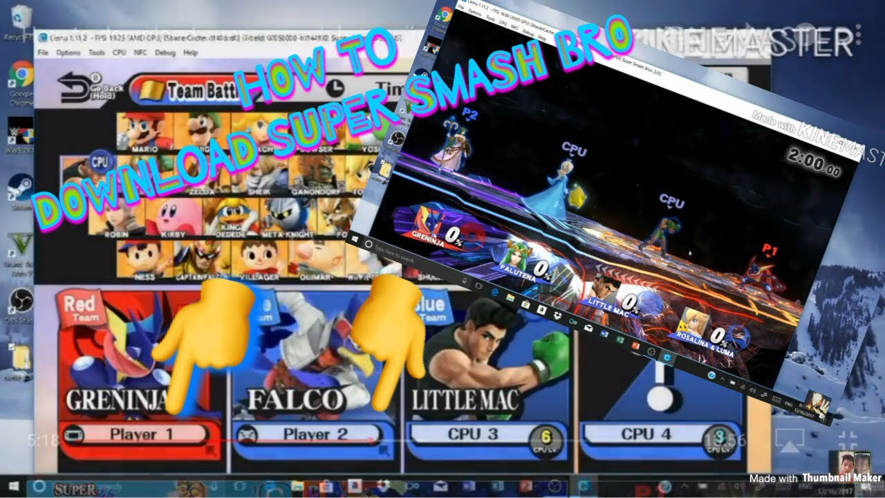 How To Download Super Smash Bro Wii U On Pc 2018 2019 Full Version New Update Youtube
