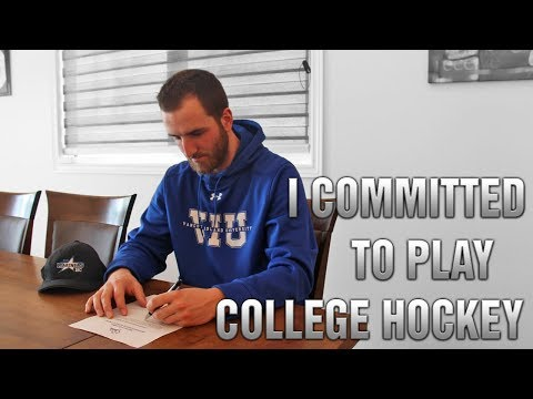 I COMMITTED TO PLAY COLLEGE HOCKEY