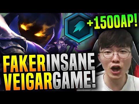 Faker Gets +1500 AP with Veigar! - SKT T1 Faker KR SoloQ Playing Veigar Mid! | SKT T1 Replays