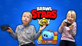 Сережа и Дарина открывают СУНДУКИ в Brawl Stars Выбьют ли они ЛЕГУ?