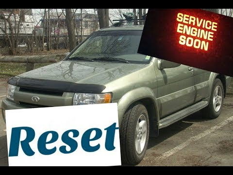 How To Reset Service Engine Soon Light On A 2002 Infiniti Qx4 Youtube