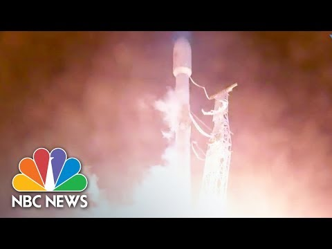 SpaceX Launches Rocket Carrying Satellite Into Space | NBC News