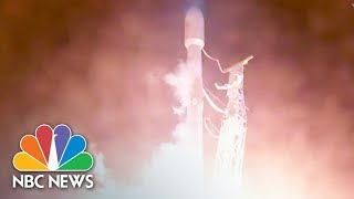 SpaceX Launches Rocket Carrying Satellite Into Space   NBC News
