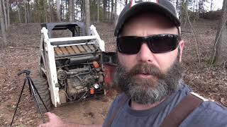 How a bobcat skid steer works/operates BREAK DOWNS! Fuel filter tutorial, building a new driveway!