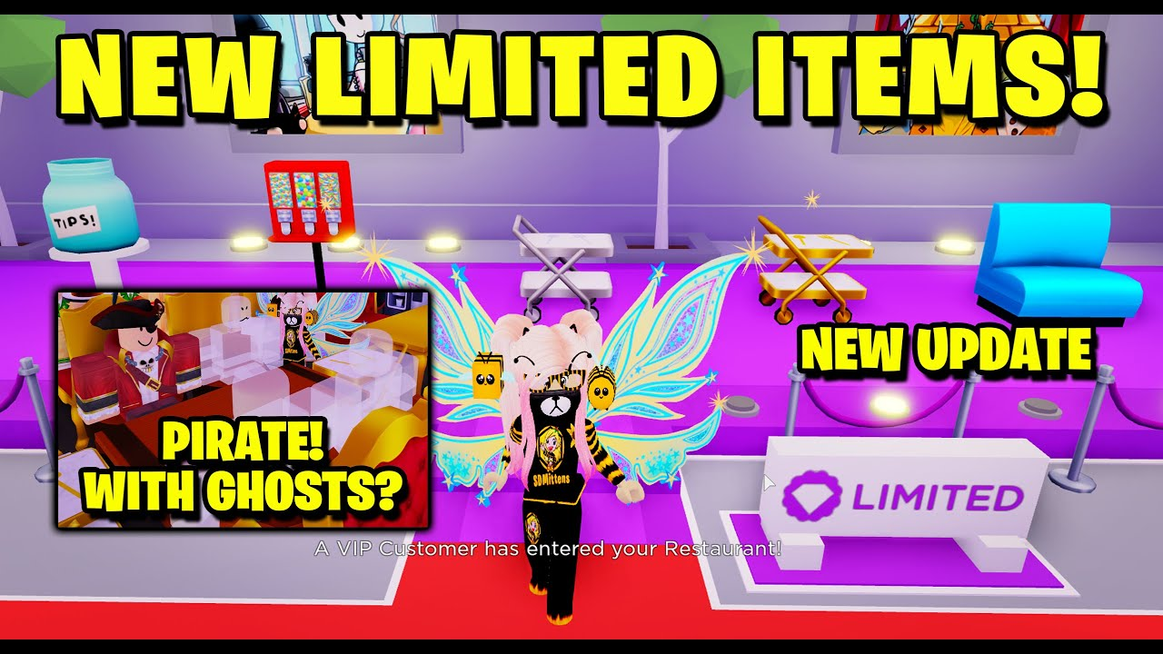 Pirate Bee Roblox Pirate Customer New Limited Items My Restaurant Roblox Youtube