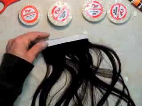 How To Make A Machine Weft Tape In Hair Extension Tutorial