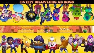 ALL BRAWLERS AS BOSS IN BIG GAME | BRAWL STARS BOSS BATTLES