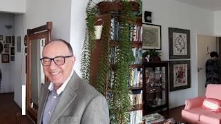 Isabel com Dr  Mauro Fisbeg na Janela da Paulista  COVID 19 e Alimentação