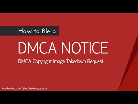 DMCA Copyright Image Takedown Request of Google