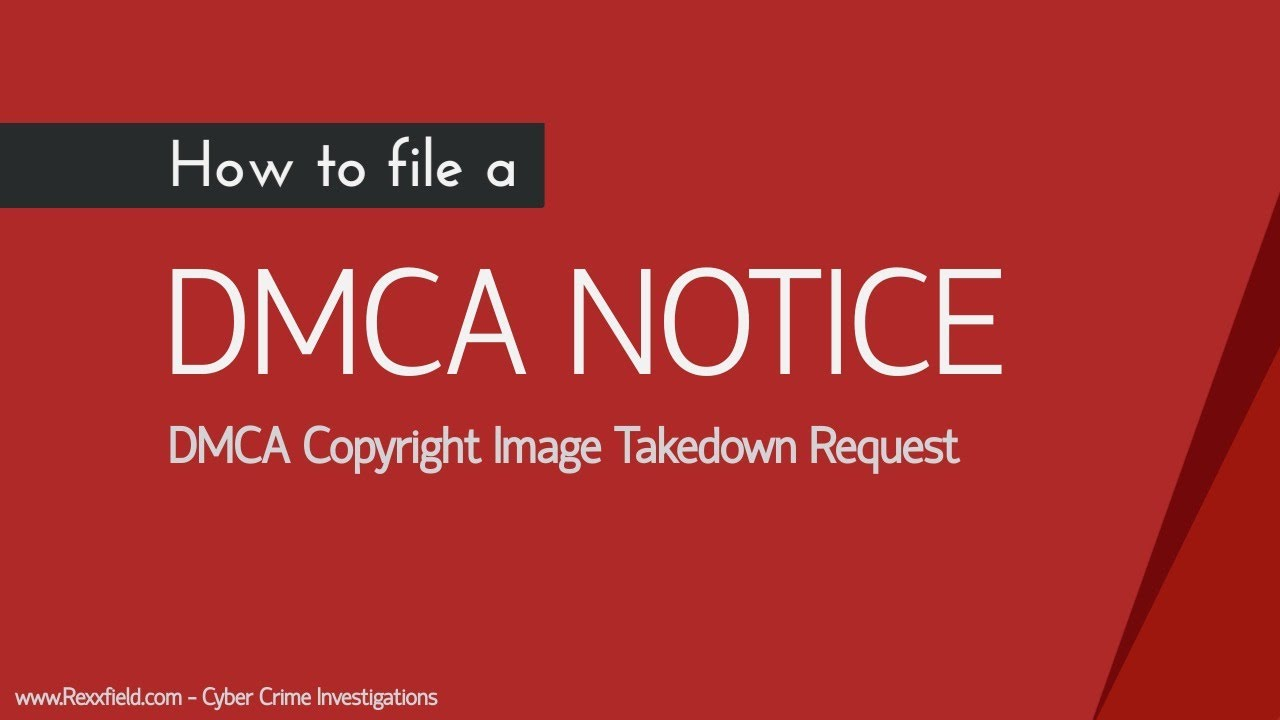 DMCA Copyright Image Takedown Request of Google - YouTube