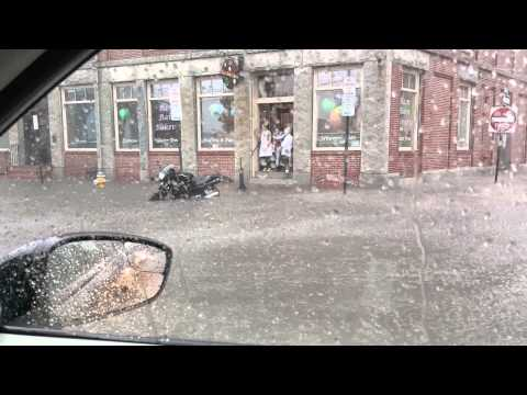 Flooding on Commercial Street in Portland Maine 9-30-15