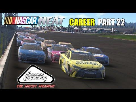 All Over The Place! (Pocono) | NASCAR Heat Evolution Career PART 22