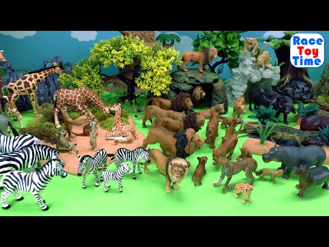 Lots of African Safari Wild Animals Toys Figurines Collection