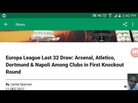 Europa league last 16 fixture