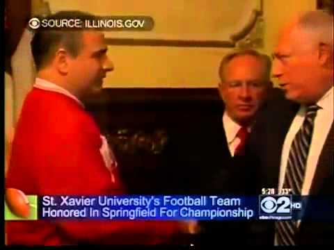SXU football honored by Gov. Quinn and Illinois General Assembly, CBS 2 News at 5 p.m.
